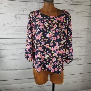 ⚡LC Lauren Conrad Floral Blouse Size Large